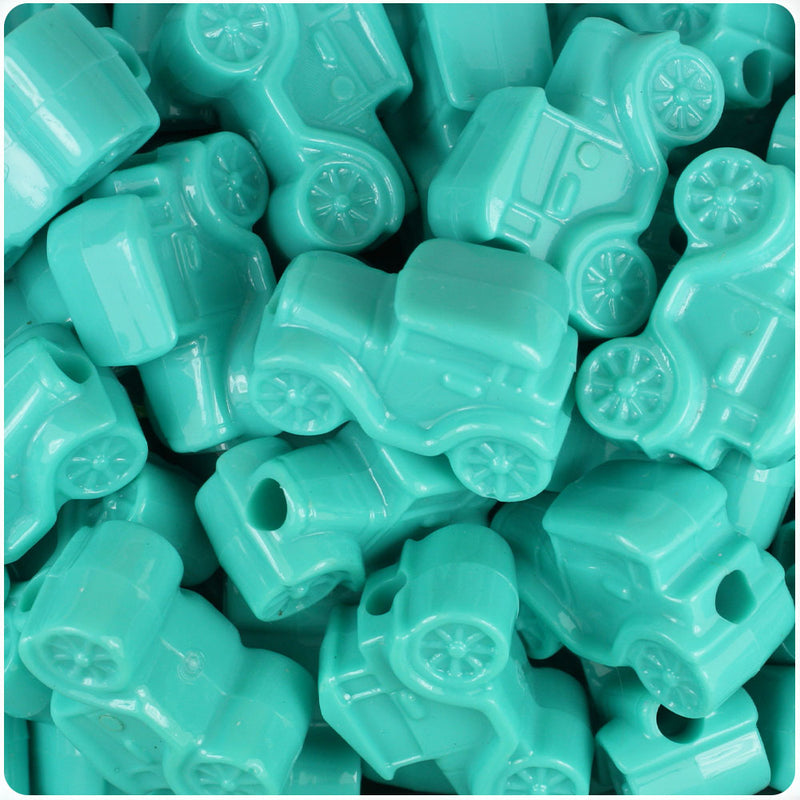 Light Turquoise Opaque 25mm Car Pony Beads (24pcs)