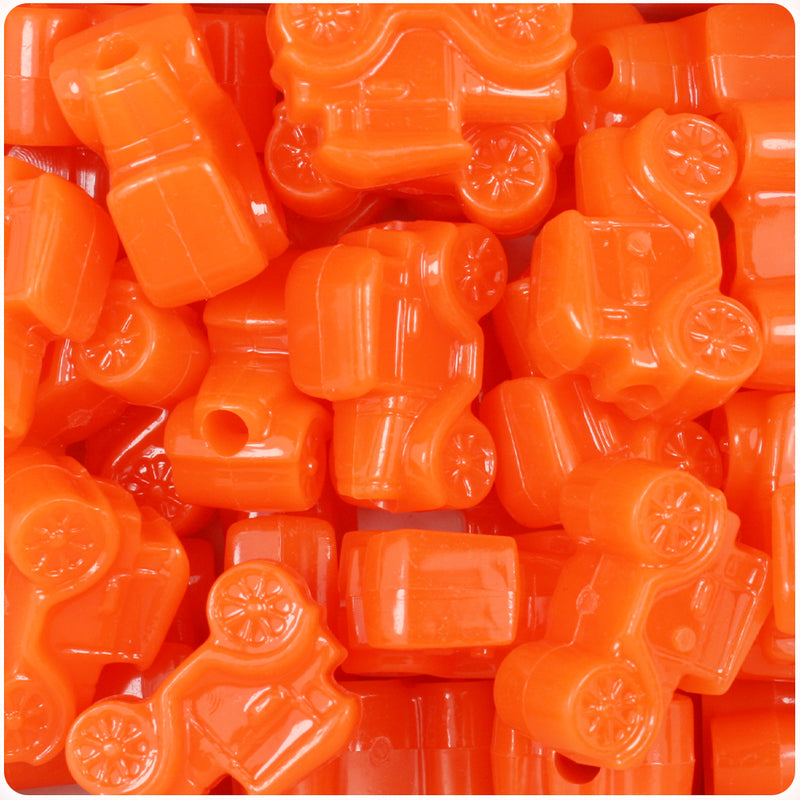 Tangelo Neon Bright 25mm Car Pony Beads (24pcs)
