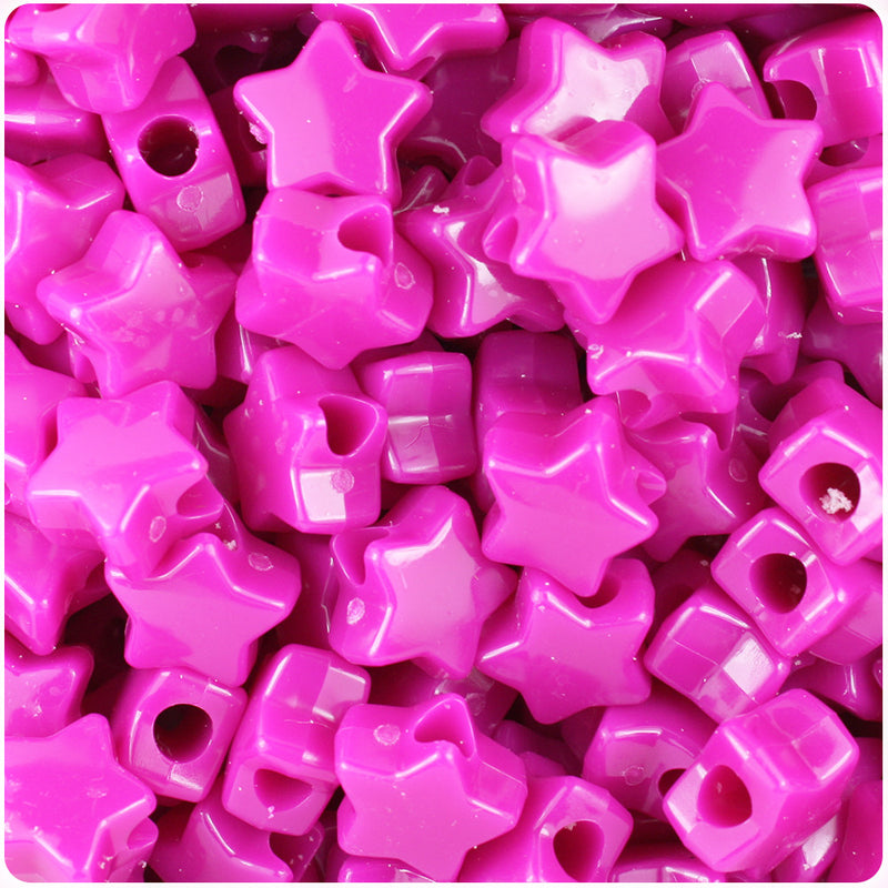 Mulberry Opaque 13mm Star Pony Beads (250pcs)