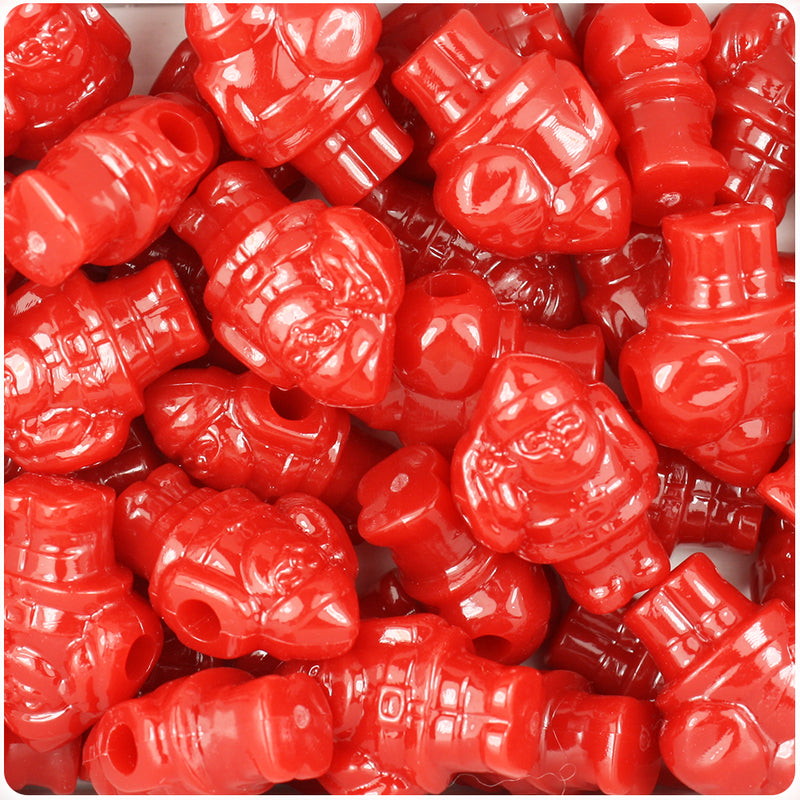Red Opaque 24mm Santa Pony Beads (24pcs)