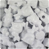 White Opaque 24mm Bunny Rabbit Pony Beads (24pcs)
