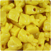 Yellow Opaque 24mm Bunny Rabbit Pony Beads (24pcs)