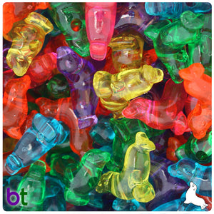 Jelly Mix Transparent 24mm Seal Pony Beads (24pcs)