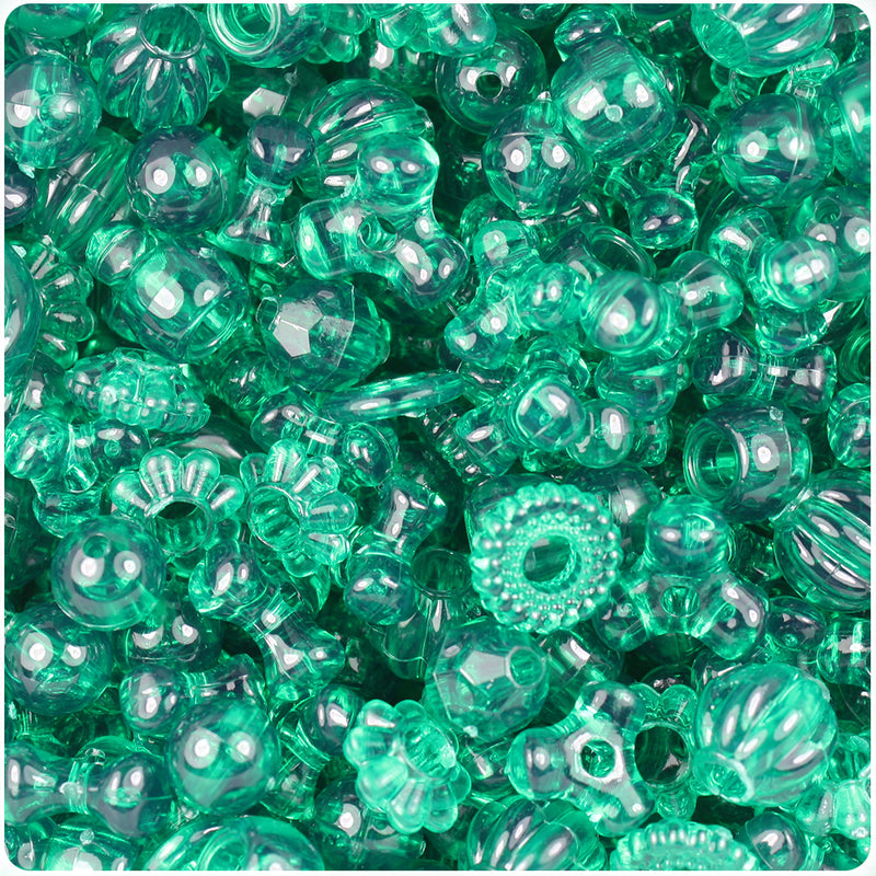 Emerald Transparent Craft Bead Mix (113g)