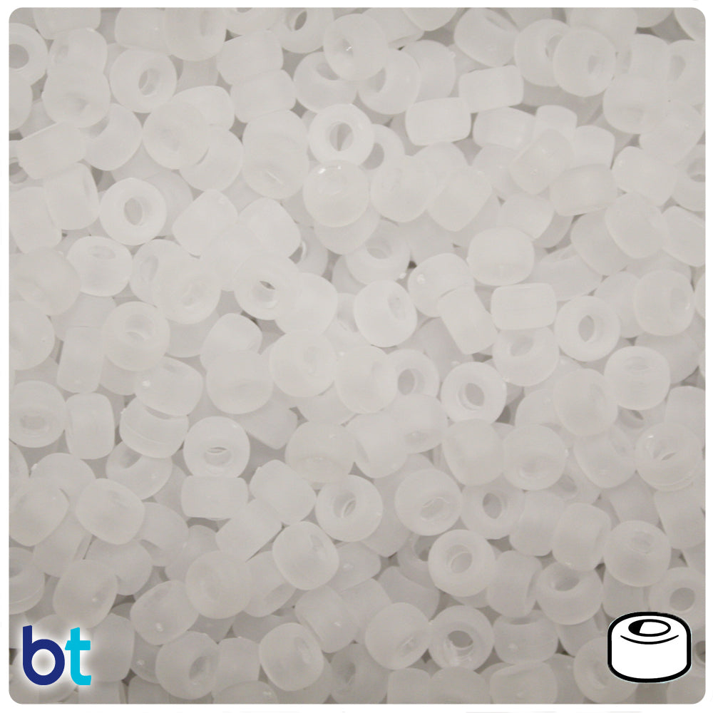 Ice Frosted 6.5mm Mini Barrel Pony Beads (1000pcs)