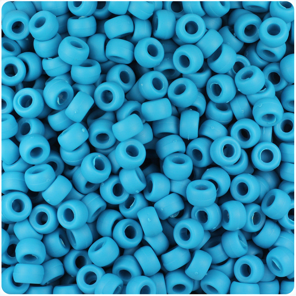 1000 Red Opaque 7mm Mini Barrel Plastic Pony Beads Made in the USA