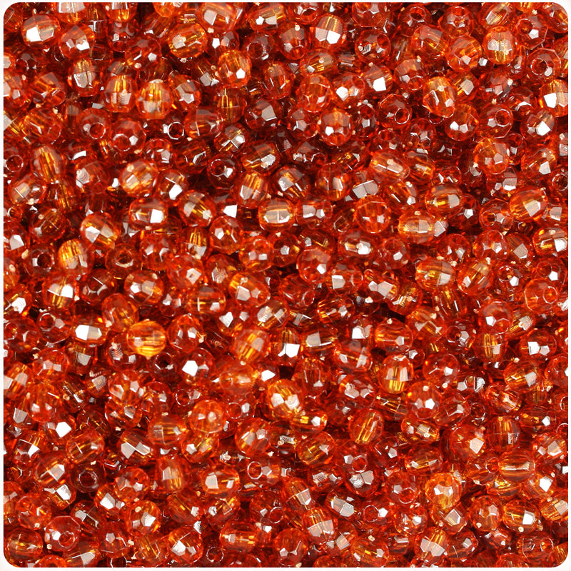 Tortoise Transparent 4mm Faceted Round Craft Beads (1250pcs)