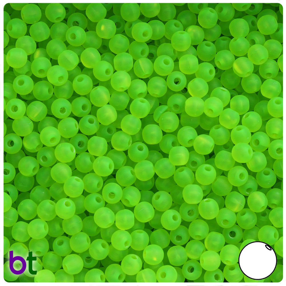 Lime Roe Frosted 5mm Round Craft Beads (700pcs)