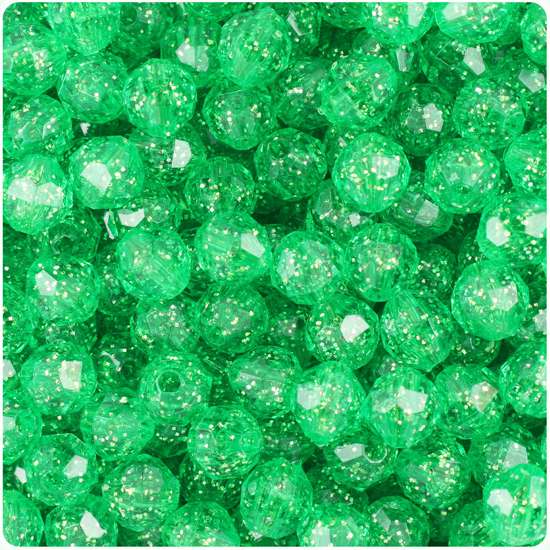 Mint Sparkle 8mm Faceted Round Craft Beads (450pcs)