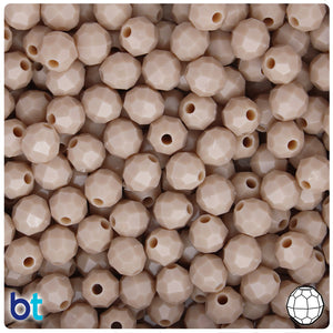 Dark Ivory Opaque 8mm Faceted Round Craft Beads (450pcs)