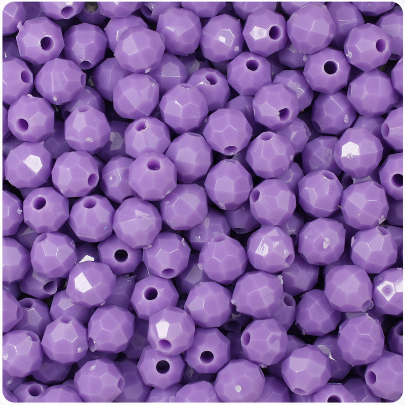 Lilac Opaque 8mm Faceted Round Craft Beads (450pcs)
