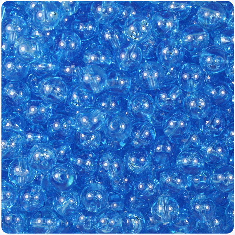 Light Sapphire Transparent 8mm Round Craft Beads (300pcs)