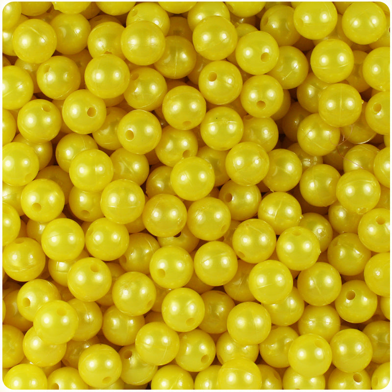 Yellow Pearl 8mm Round Craft Beads (300pcs)