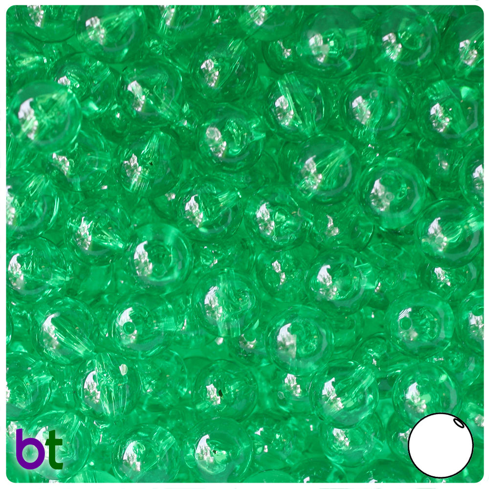 Mint Transparent 10mm Round Craft Beads (150pcs)