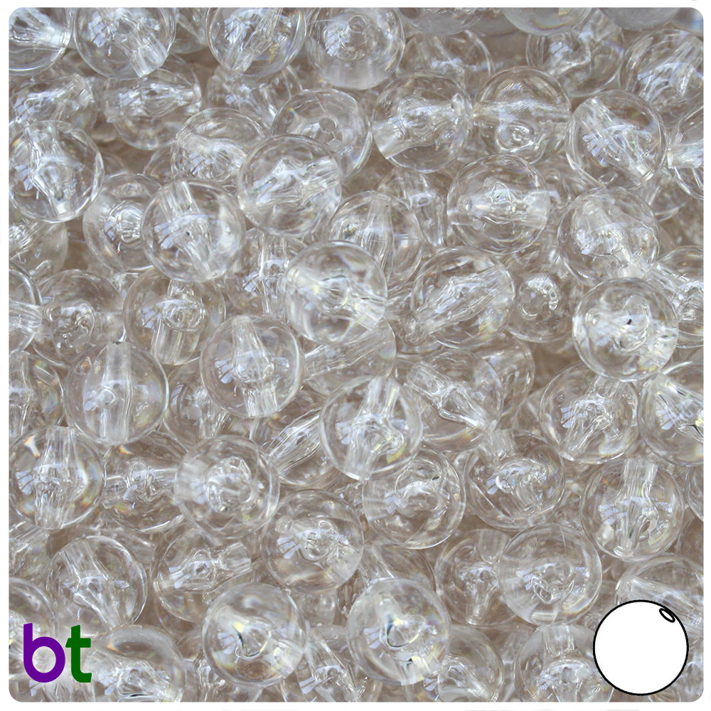 Champagne Transparent 10mm Round Craft Beads (150pcs)