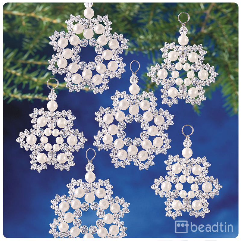 Crystal & Pearl Snowflakes Ornament Kit