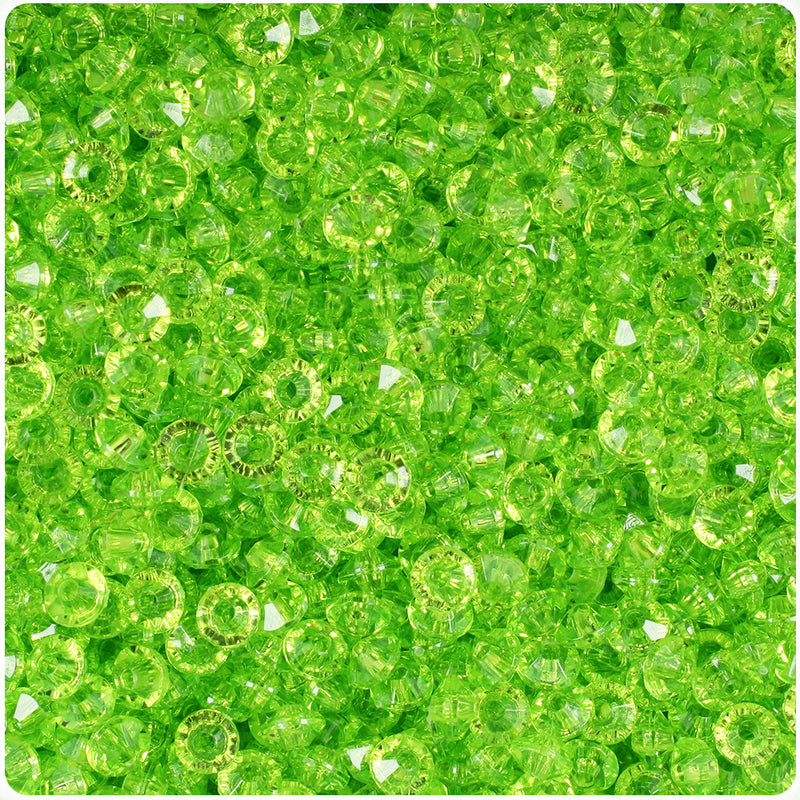 Lime Transparent 6mm Faceted Rondelle Craft Beads (1200pcs)