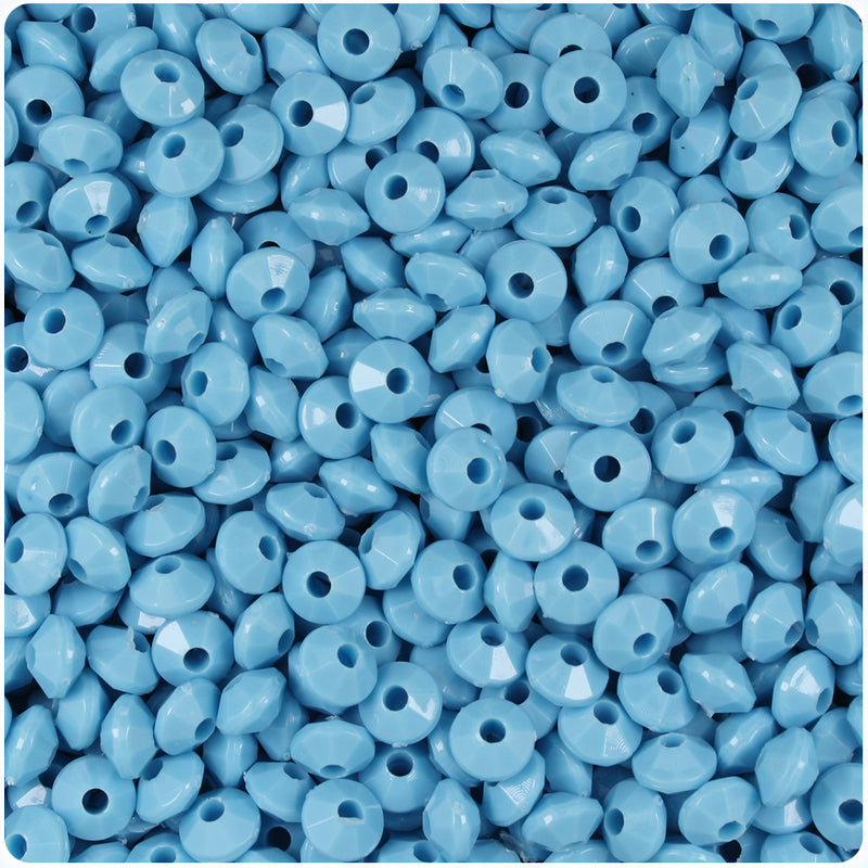 Baby Blue Opaque 6mm Faceted Rondelle Craft Beads (1200pcs)
