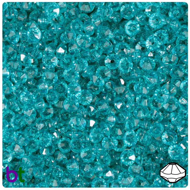 Teal Transparent 6mm Faceted Rondelle Craft Beads (1200pcs)
