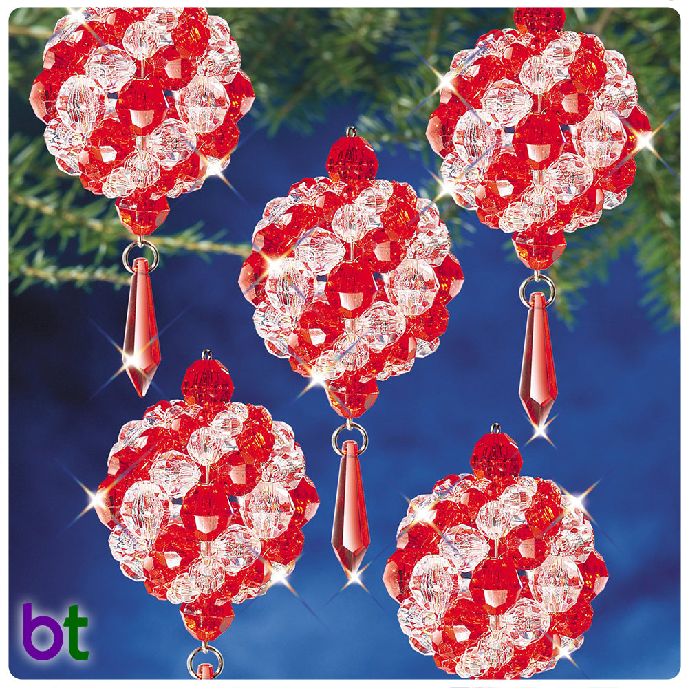 Ruby & Crystal Ball Ornament Kit