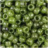 Jade Marbled 9mm Barrel Pony Beads (500pcs)
