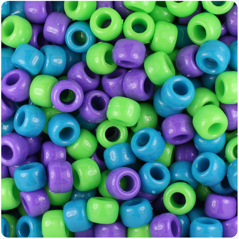 Delicious Mix Opaque 9mm Barrel Pony Beads (500pcs)