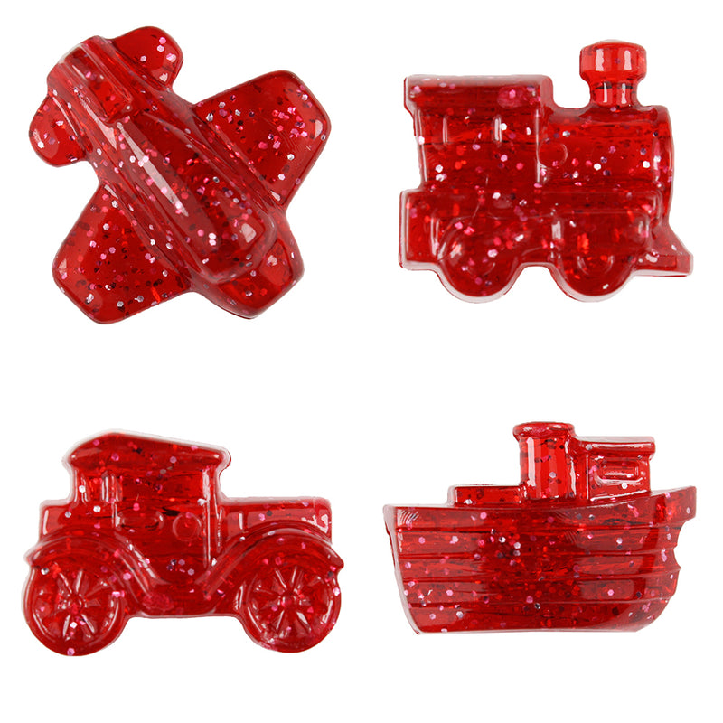 Ruby Sparkle Mini Mobile Pony Beads (24pcs)