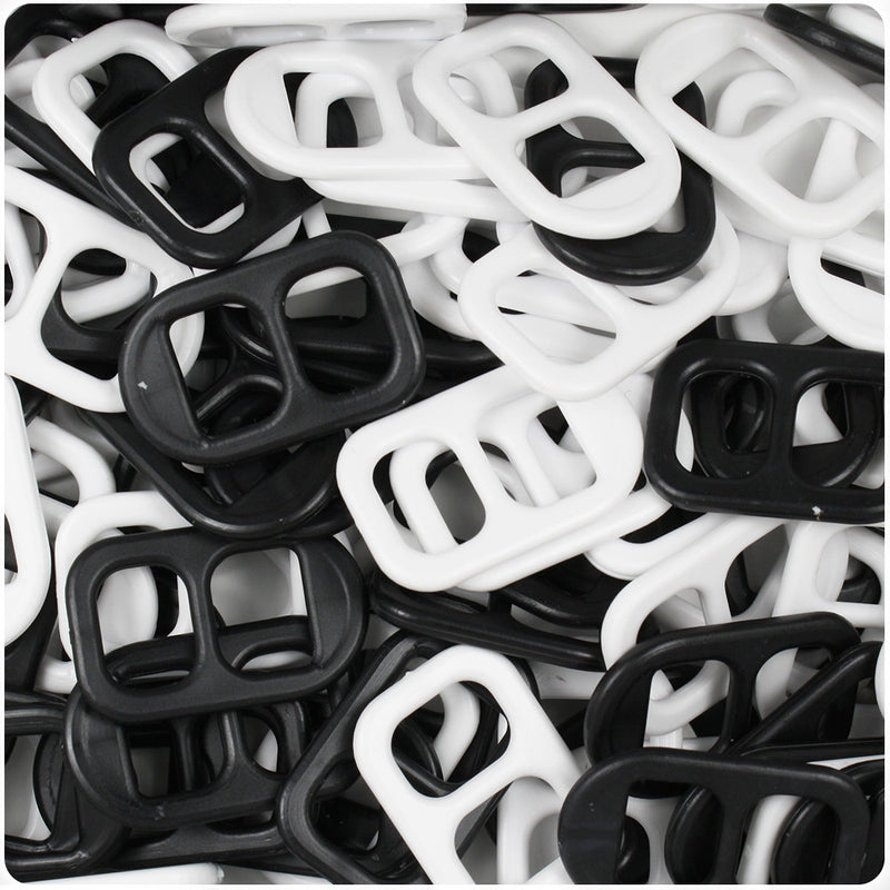 Black & White Opaque 25mm Soda Pop Tabs (55g)