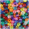 Transparent Multi 9mm Faceted Barrel Pony Beads (500pcs)