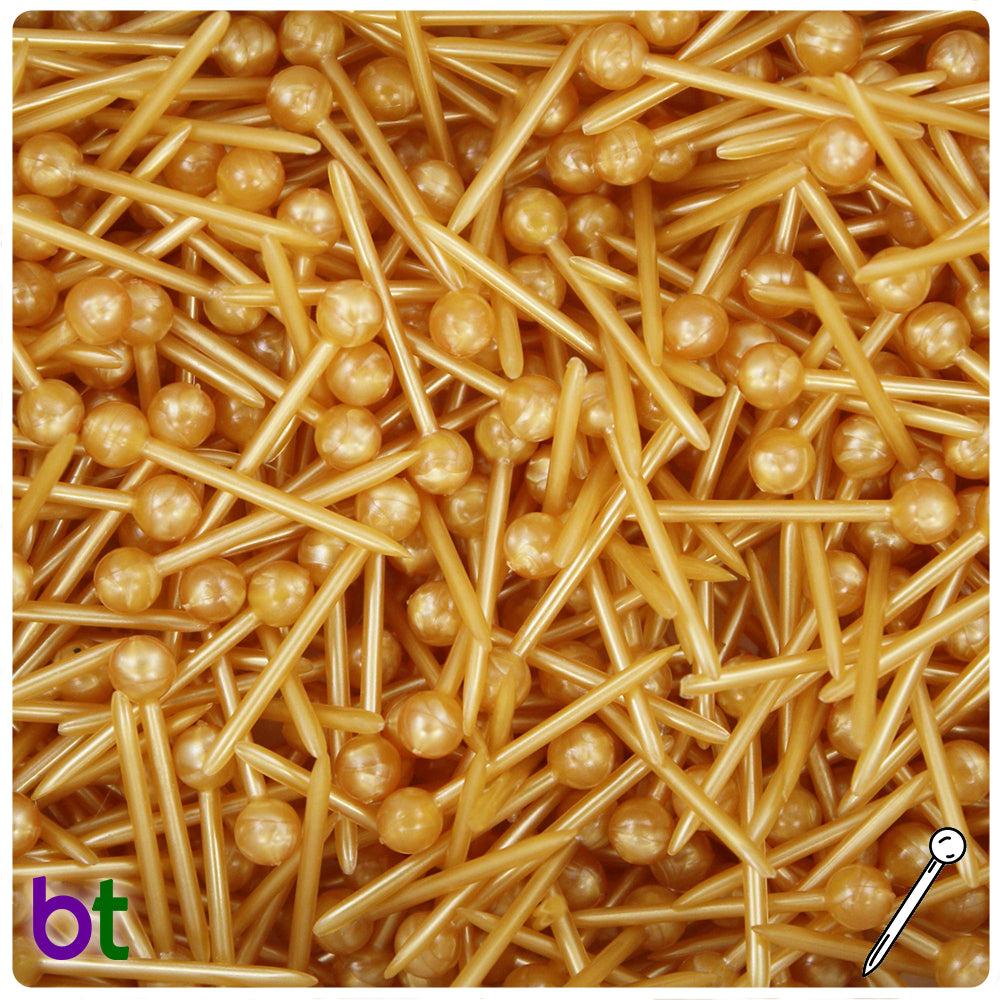 Gold Pearl 25mm Ornapik Craft Products (55g)