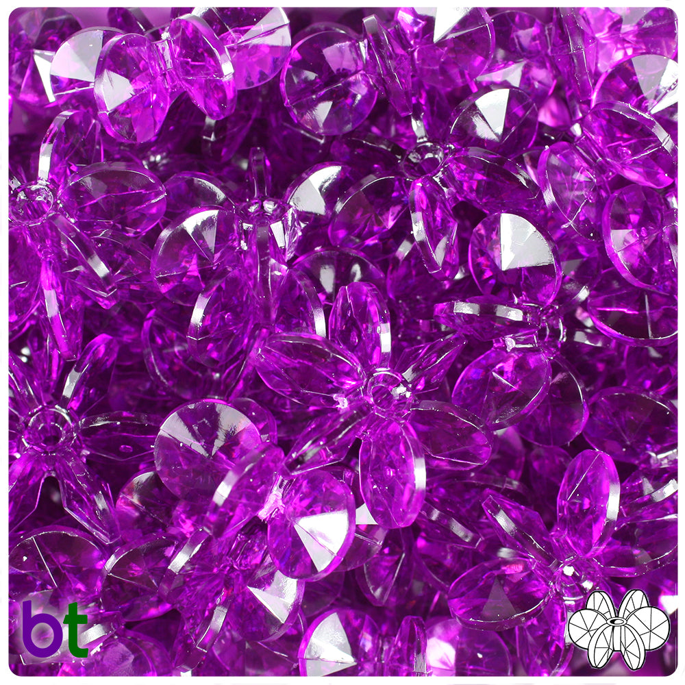 Lilac Transparent 25mm SunBurst Craft Beads (69pcs)