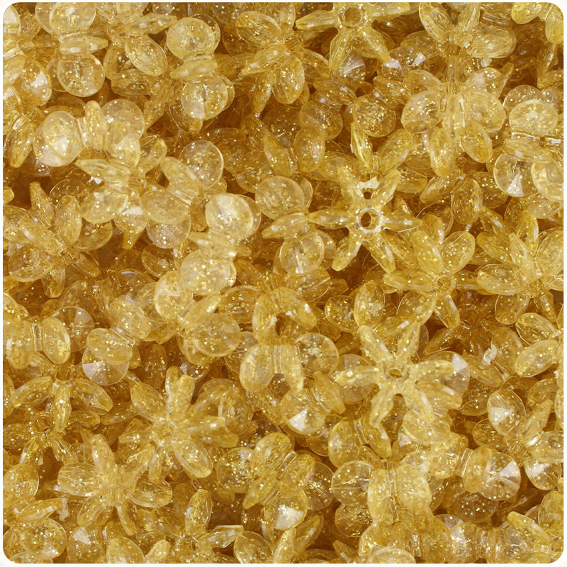 Gold Sparkle 12mm SunBurst Craft Beads (400pcs)