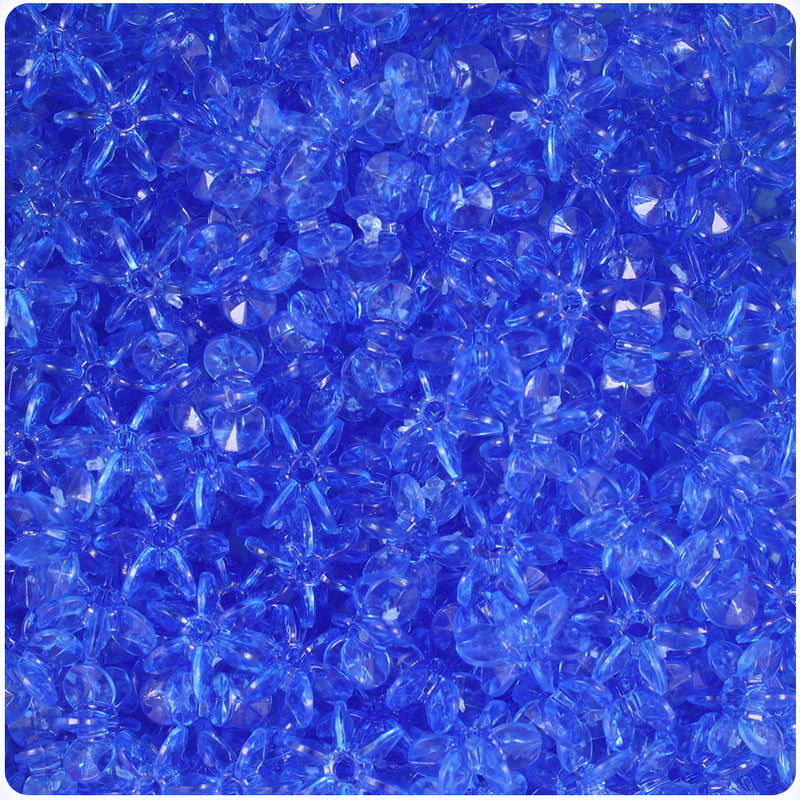 Dark Sapphire Transparent 10mm SunBurst Craft Beads (400pcs)
