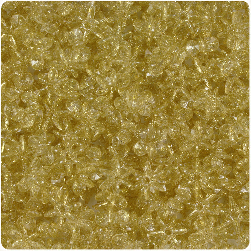 Gold Sparkle 10mm SunBurst Craft Beads (400pcs)