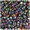 """Y"" Black Opaque 7mm Cube Alphabet Beads - Colours (75pc)"