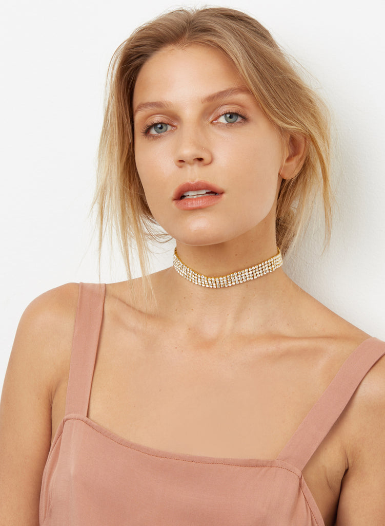 Heart of Glass Choker - Gold