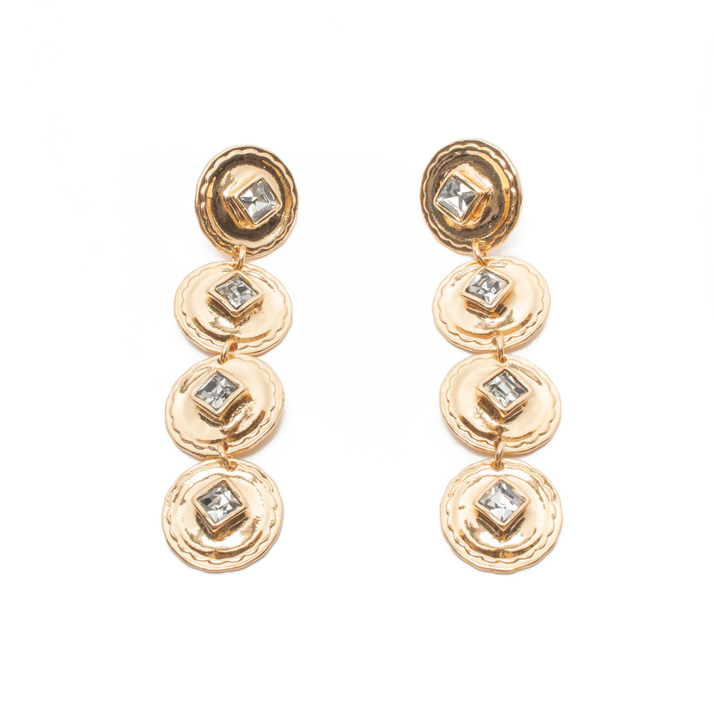 Cha Cha Earrings in Gold