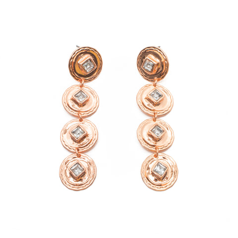 Cha Cha Earrings in Rose Gold