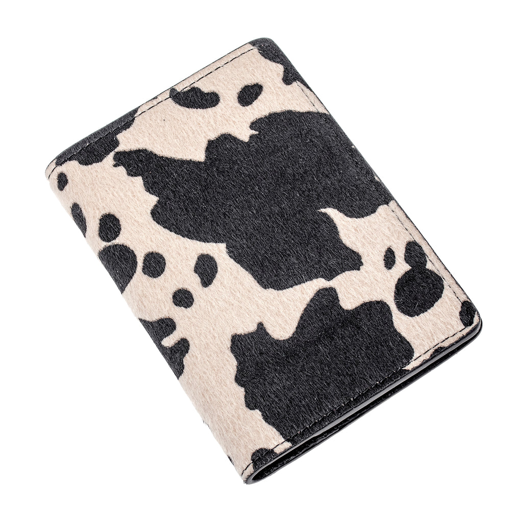 Destination Heaven Passport Case in Cow Print