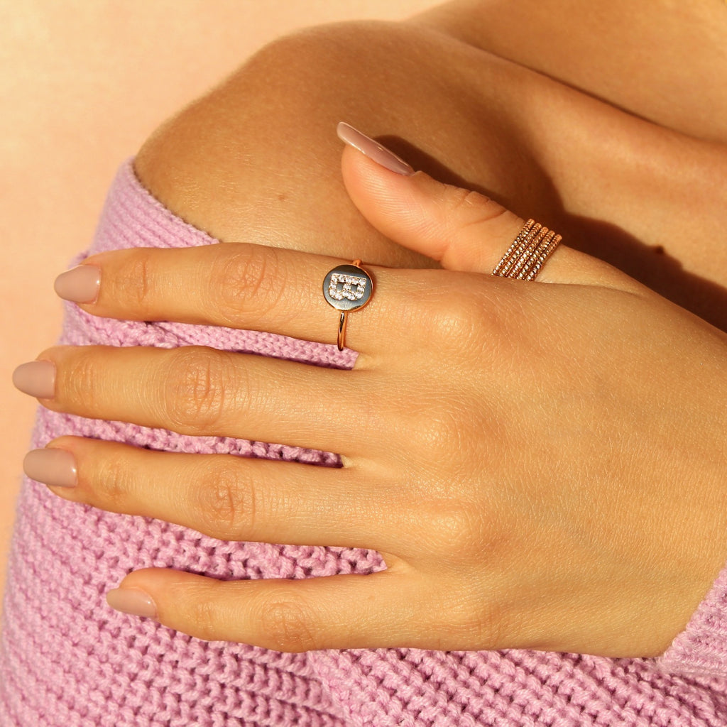 Crystal Cutie Ring in Clear
