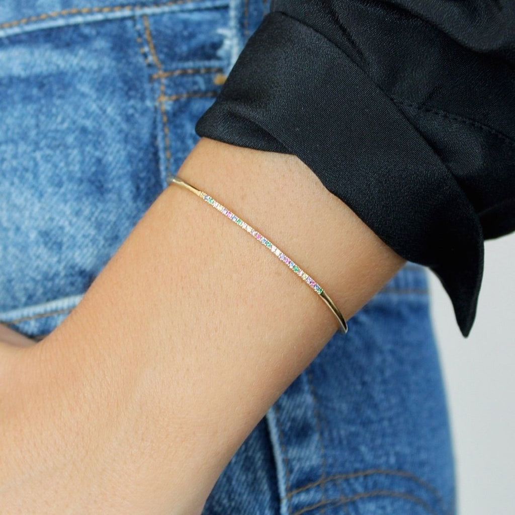 Cute AF Cuff in Rainbow