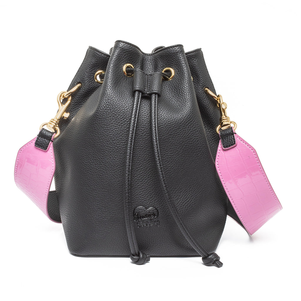 Daydreamer Bucket Bag with Pink Alligator Strap