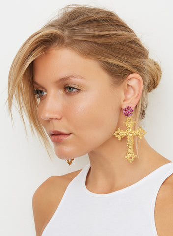Vatican City Earrings - Pink