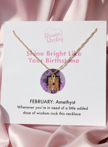 February Light My Fire Birthstone Necklace