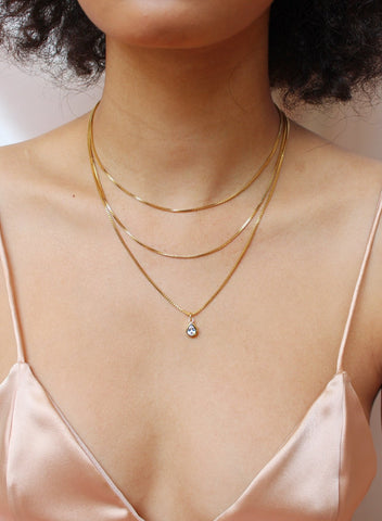 Glitter and Gold Prelayer (3 in 1) Necklace