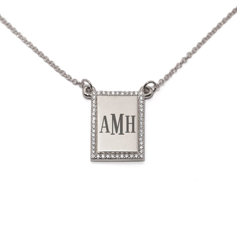 Trust Me Engravable Diamond Necklace