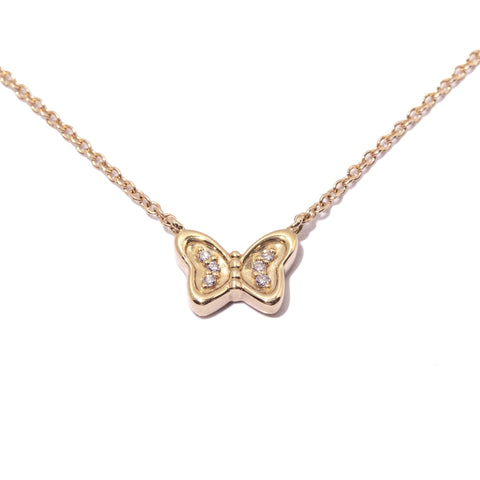 Butterfly Baby Diamond Necklace