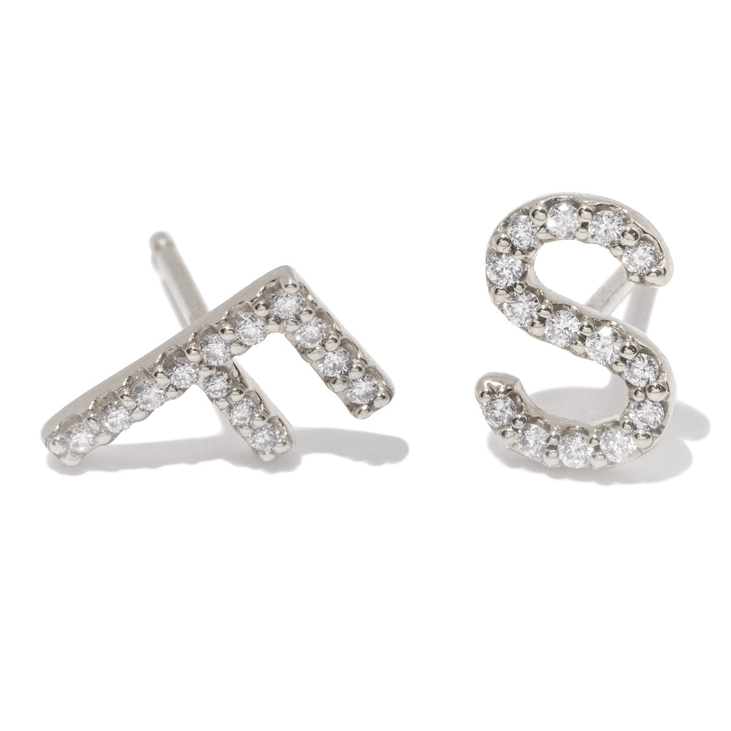 Daily Mood Diamond Initial Stud
