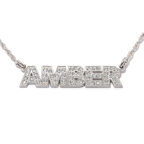 Shine On Custom Diamond Nameplate Necklace