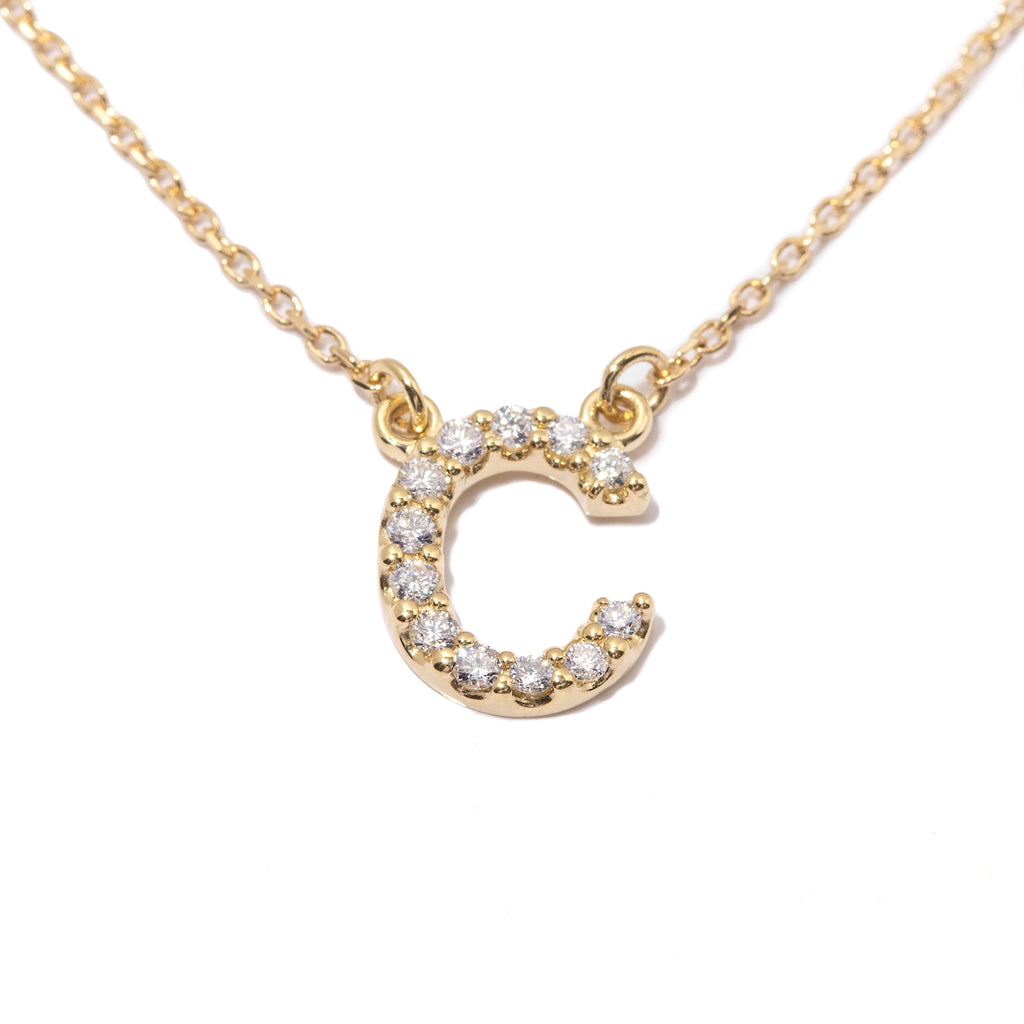 Dripping in Diamonds Custom Initial Necklace